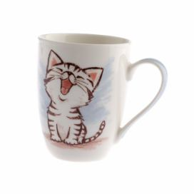 Porcelánový hrnek Dakls Happy Cat, 345 ml
