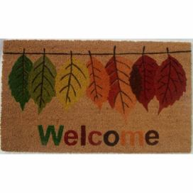 Trade Concept Kokosová rohožka Welcome Leaf, , 43 x 73 cm