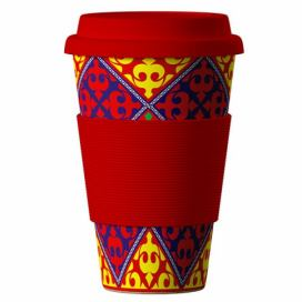 AREON Bamboo Cup 400ml - Ornaments Red