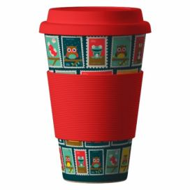 AREON Bamboo Cup 400ml - Postmarks red