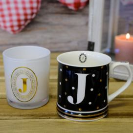 Arôme+Home Elements Hrnek a svíčka, monogram J