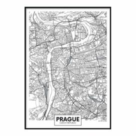 Plakát DecoKing Map Prague, 50 x 40 cm