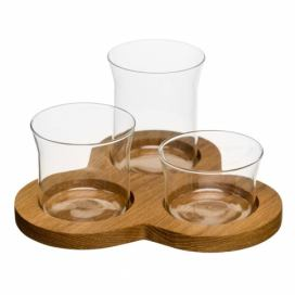 SAGAFORM Podnos s miskami Nature Serving Set