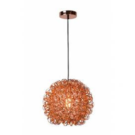 LUCIDE NOON - Pendant light - Ø 40 cm - Copper