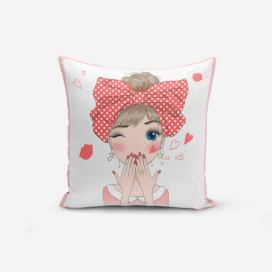 Povlak na polštář Minimalist Cushion Covers Cute Girl, 45 x 45 cm