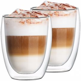 4Home Termo sklenice na latté Hot&Cool 350 ml, 2 ks
