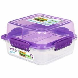Sistema Lunch Stack Square To Go Purple Online 1.24L  (4)